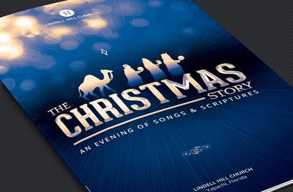 Christmas Story Church Brochure Template