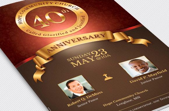 Church Anniversary Brochure Large Template