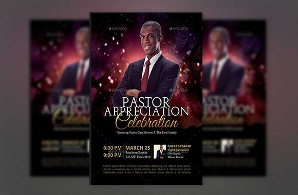 Day Star Pastor Anniversary Photoshop Template