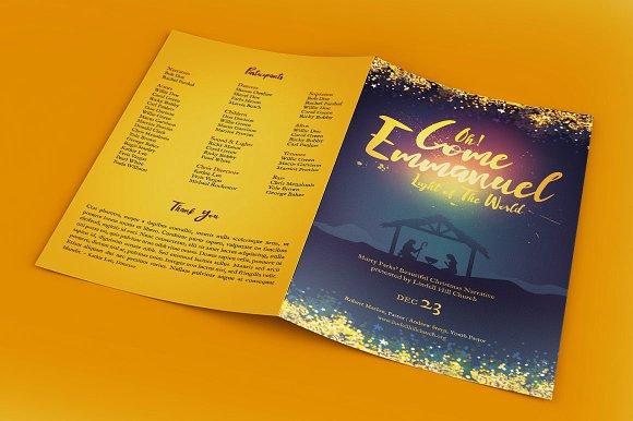 Emmanuel Christmas Brochure Template