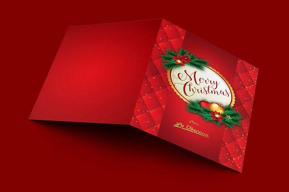 Ornament Christmas Postcard Template
