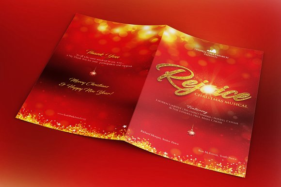 Rejoice Christmas Cantata Brochure Template