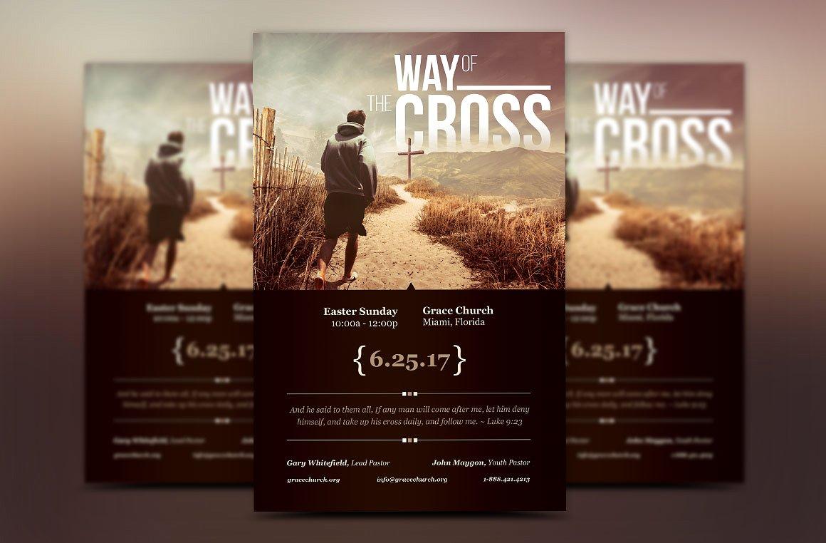 Cross Way Church Flyer Poster Template