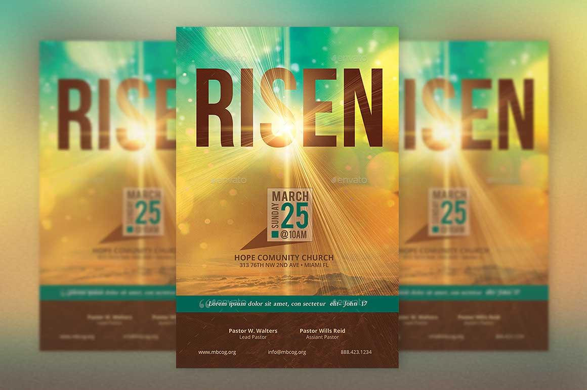 Risen Easter Church Flyer