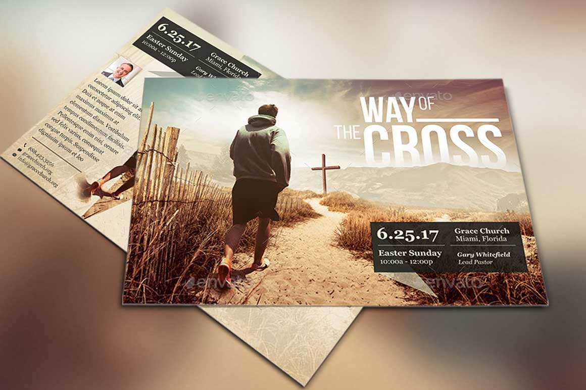 Cross Way Flyer Poster Template