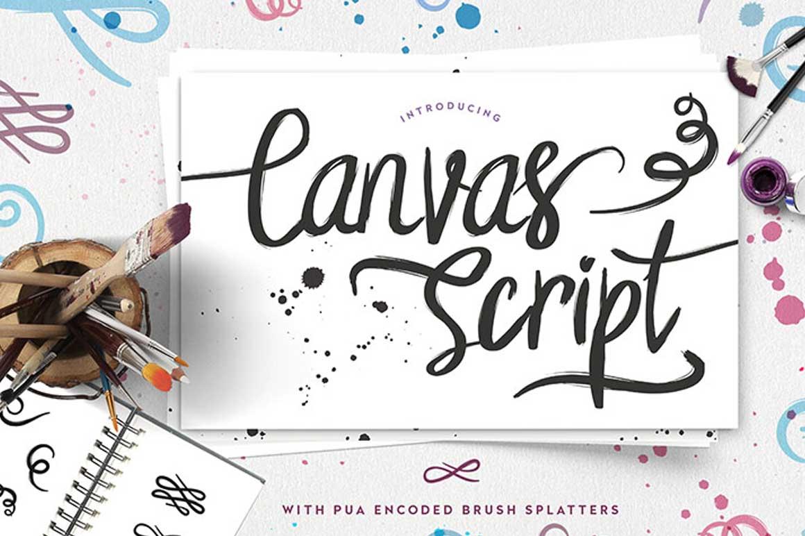 Canvas Script Free Font