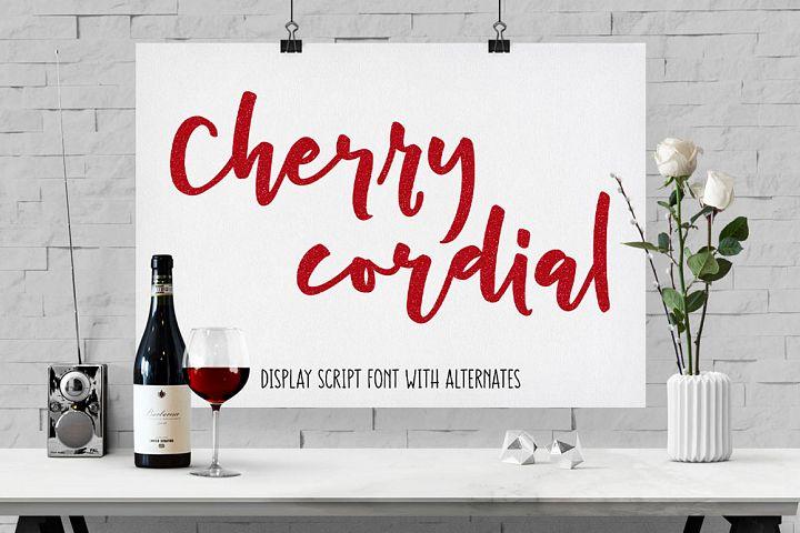 Cherry Cordial free script display font
