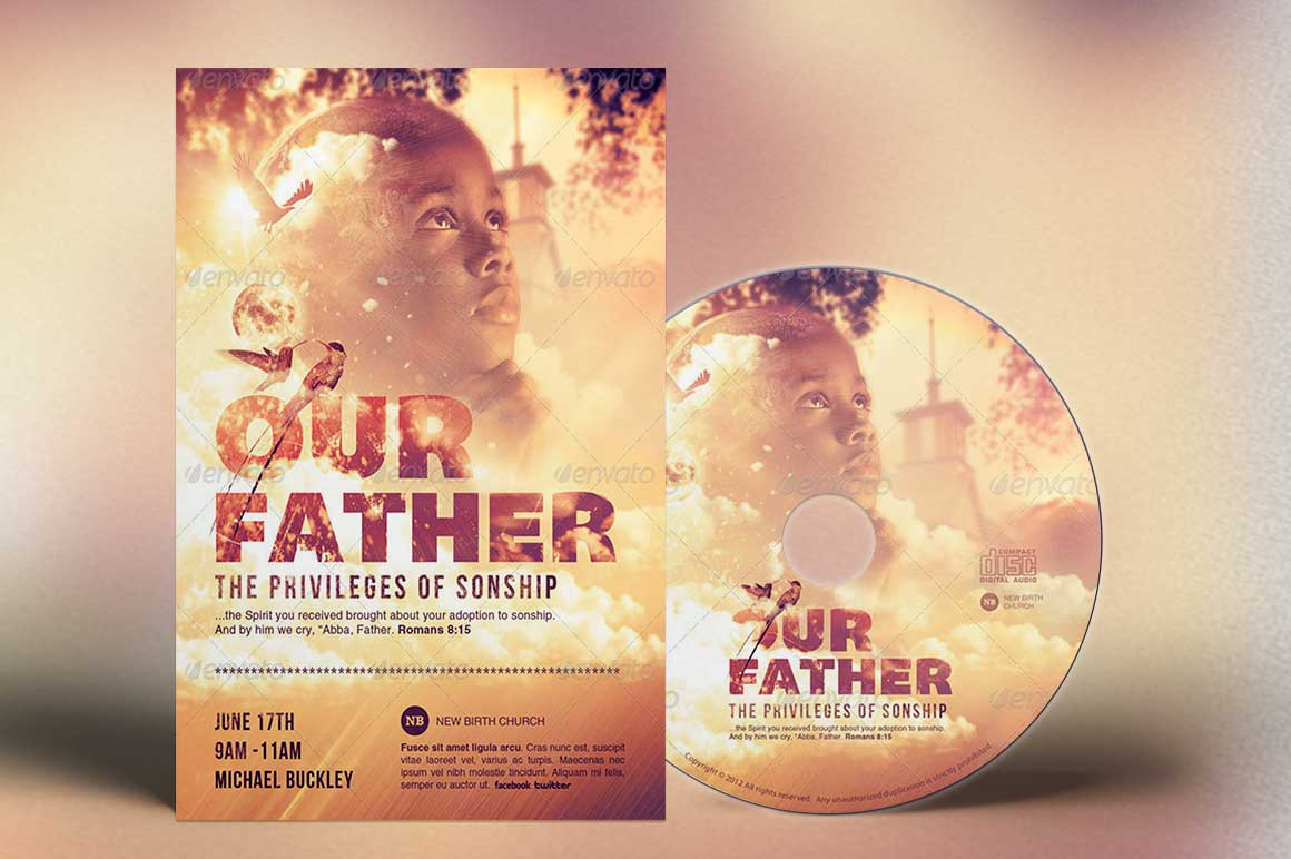 Our Father Flyer Plus CD Template