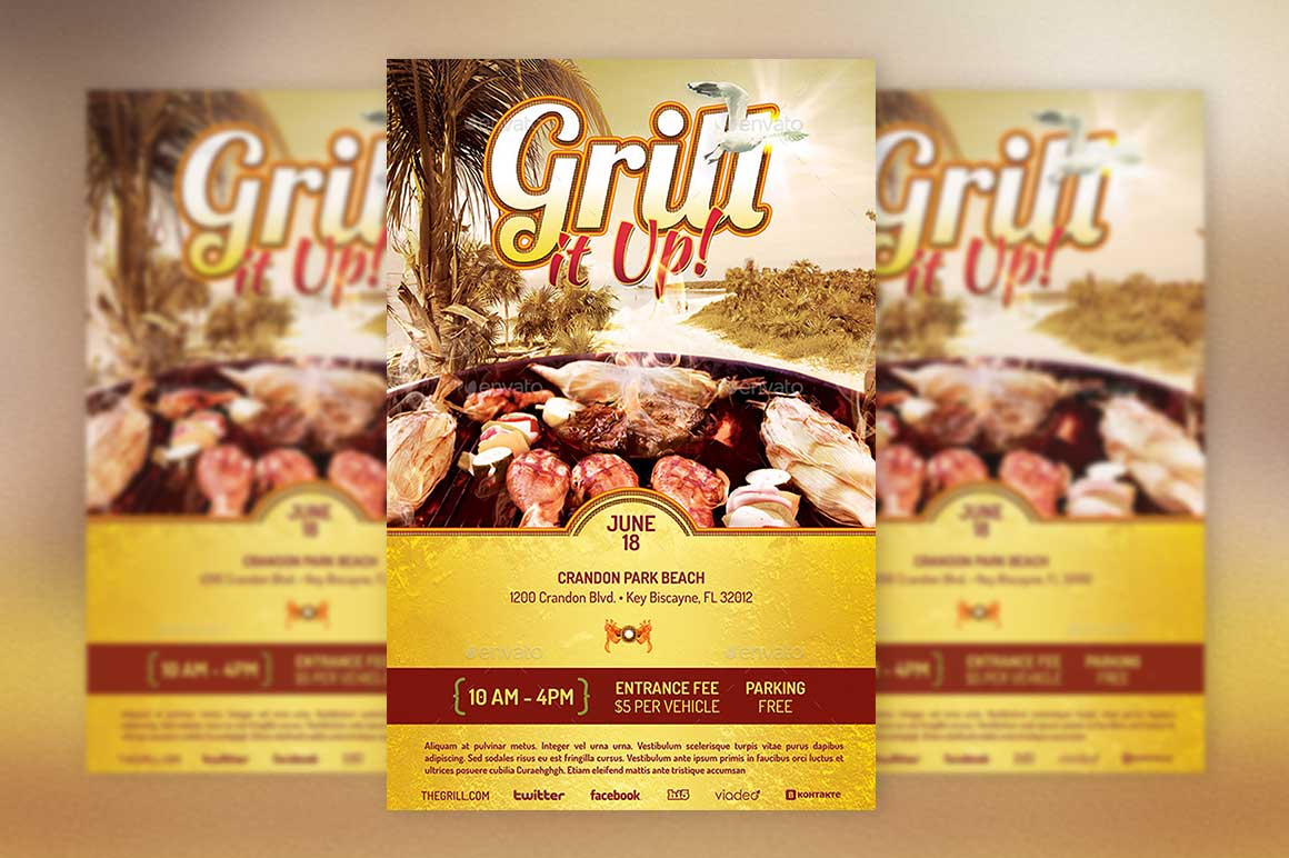 Grill Flyer Template