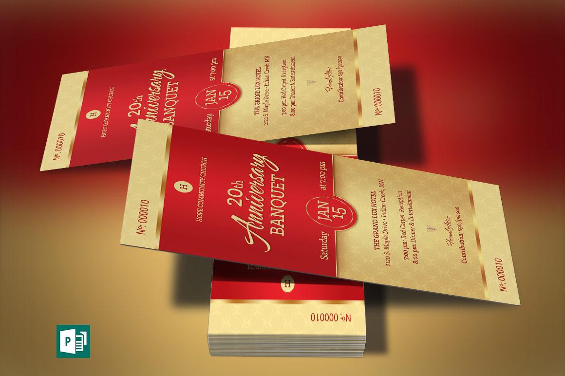 Red Church Anniversary Banquet Ticket