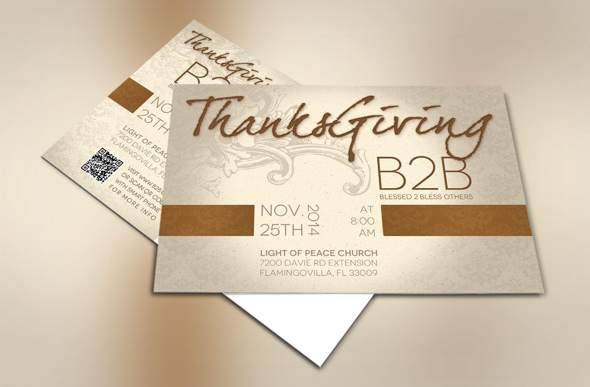 Thanksgiving Charity Postcard