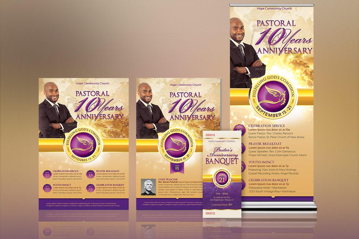 Clergy Anniversary Template Kit