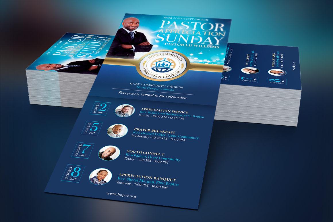 Pastor Appreciation Rack Card
