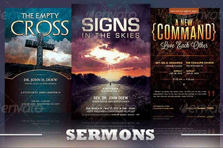 Sermon Church Flyer
