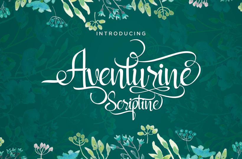 Aventurine Scriptine Font