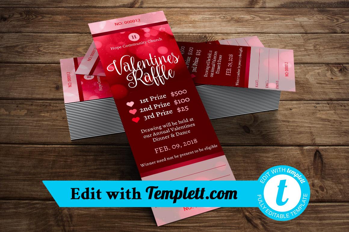 Valentines Raffle Ticket