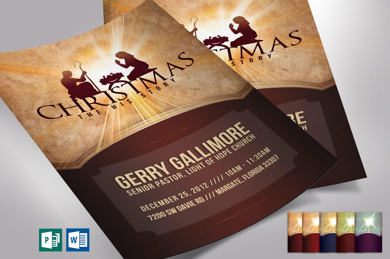 Christmas History Flyer