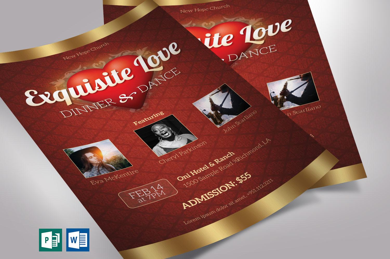 Valentines Dinner Dance Flyer