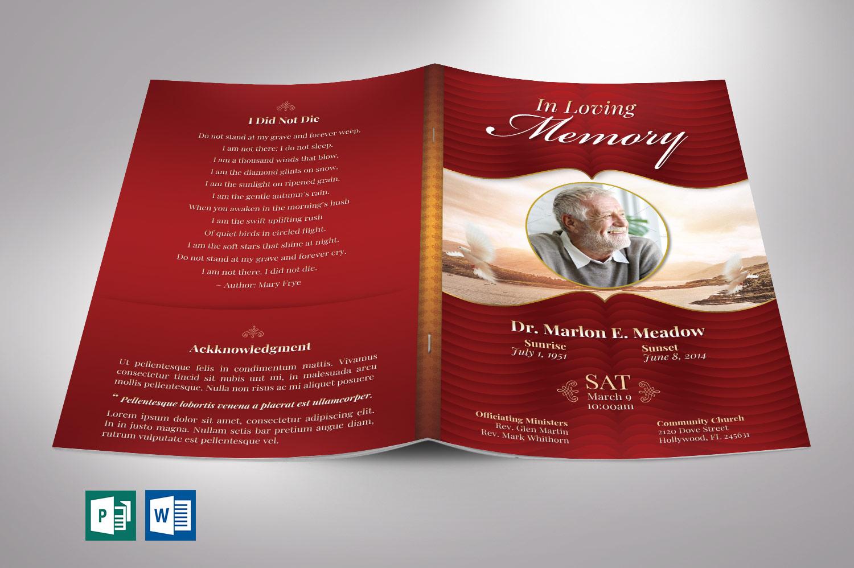 Loving Funeral Program template