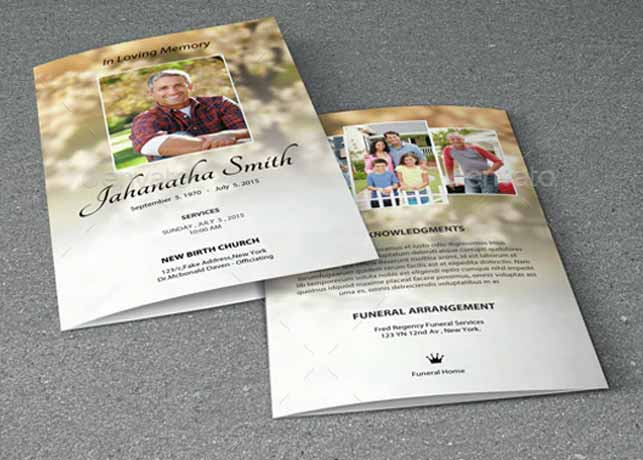 Funeral Program Template-V01