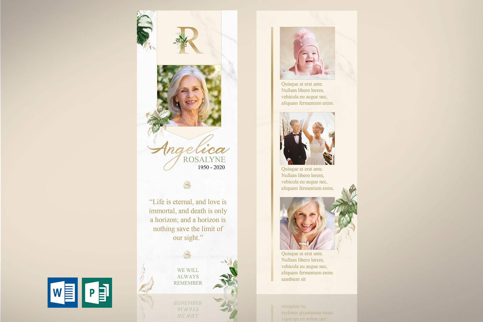 Tropica Funeral Bookmark