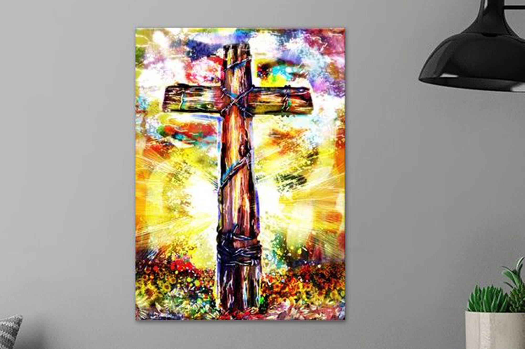 Christian Cross Art by Ryan Spark
