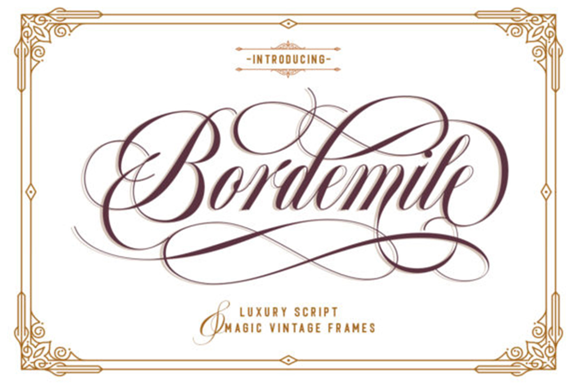 Bordemile Luxury Font