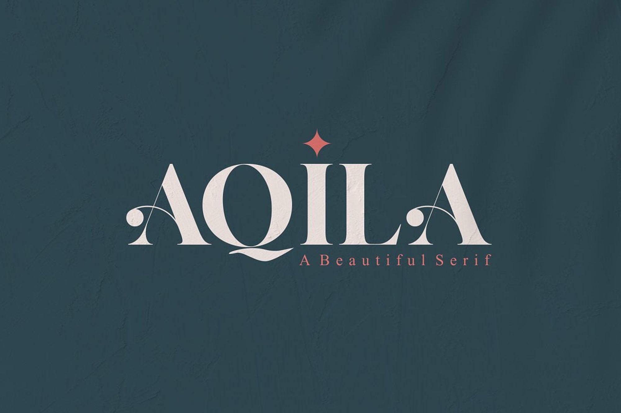 Aquila-1AQILA - A Beautiful Serif Font