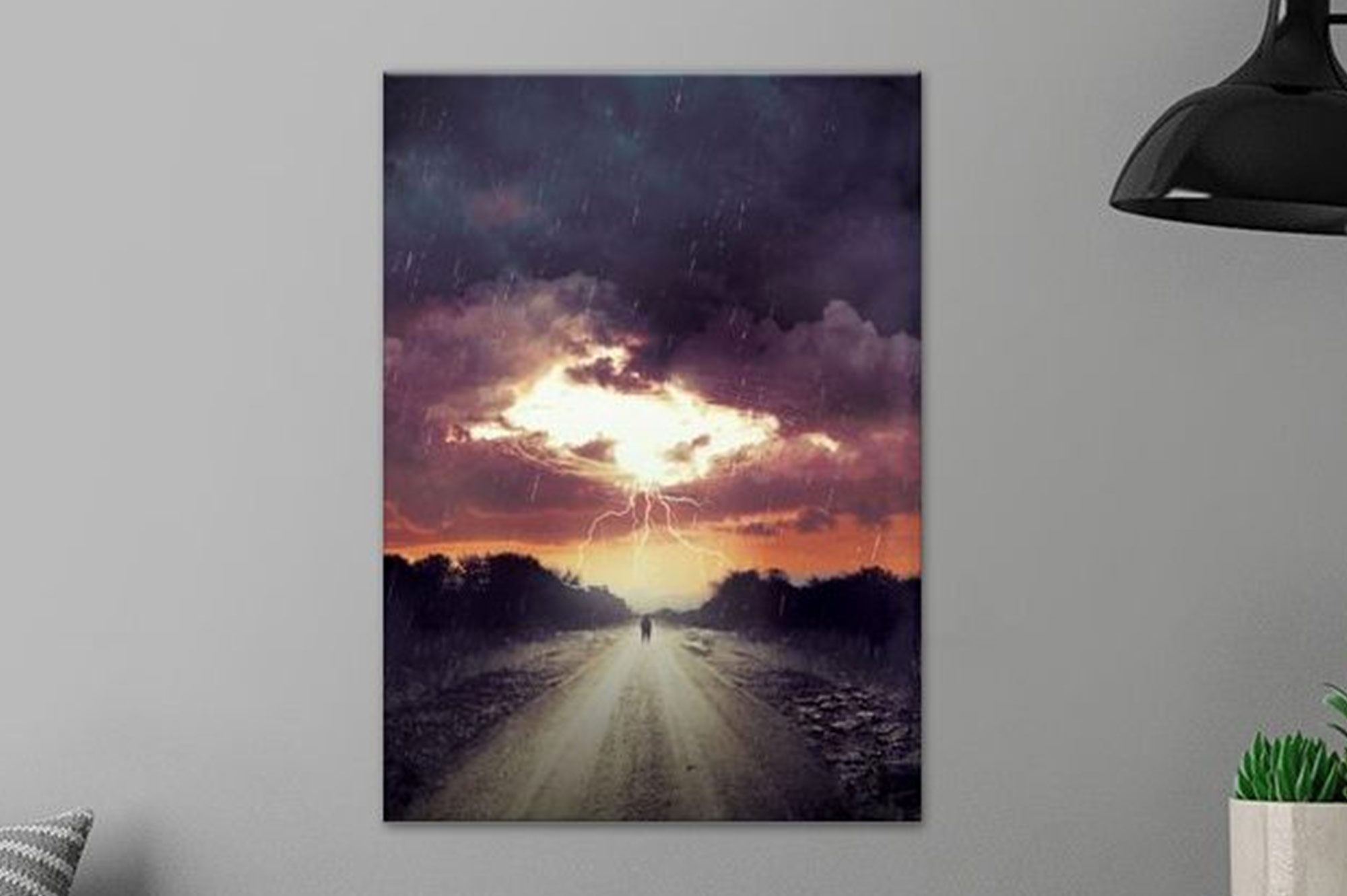 Storm Watching Metal Poster by Godserv